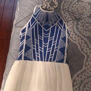 White and blue sundress!